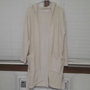 Barefoot dreams cozychic lite cream robe sz 2